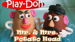 getlinkyoutube.com-Play Doh Mr and Mrs Potato Head Toy Story 3 Play-Doh Creation