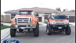 getlinkyoutube.com-Ford F650 vs Hammer H1 H2
