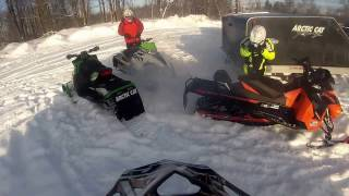 Snowmobiling Tug Hill 1/30/17 Redfield up trail C5