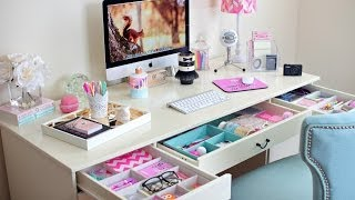 getlinkyoutube.com-Desk Organization Ideas ~ How To Organize Your Desk