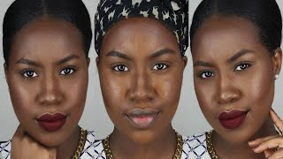 getlinkyoutube.com-High End Foundation, Highlight & Contour + Color Correcting Routine   Stella Boateng