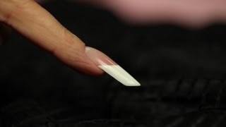 Step-By-Step Tutorial to Sculpting Gothic Almond Nails Using Crystal Nails Builder Gels