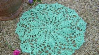 getlinkyoutube.com-Como hacer tapete a crochet Paso a Paso parte 1/3