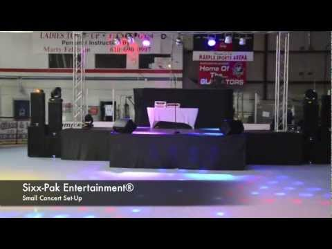 Gig Log Concert Set-Up Sixx-Pak Entertainment® Broomall, PA