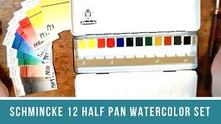 Schmincke Watercolor Review Part 1 & A Look at Pigment Numbers