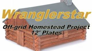 "getlinkyoutube.com-Timber Framed Cabin "" 12' Plates "" Off-grid Homestead Project"