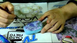 getlinkyoutube.com-CRIS AZEVEDO EM Decoupage Simples com guardanapo em sabonete