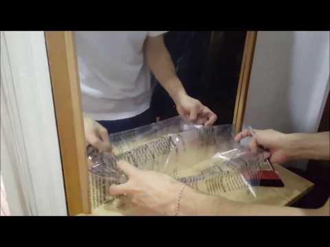 Cum sa aplici autocolant cu efect de oglinda