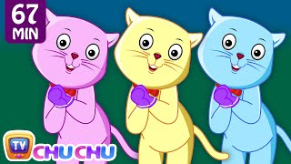 getlinkyoutube.com-Three Little Kittens and Many More Kitten Cat Songs | Popular Nursery Rhymes Collection | ChuChu TV