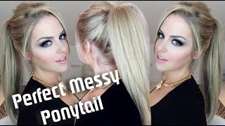 getlinkyoutube.com-Perfect Messy Ponytail