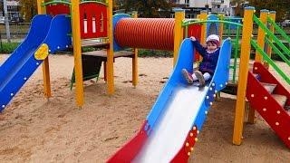 getlinkyoutube.com-Children's Playground outdoor - kids on the playground -  testing a slides