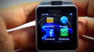 getlinkyoutube.com-NUEVO Smartwatch DZ09 2.1 con Whatsapp, facebook y Twitter 2016