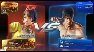 getlinkyoutube.com-Tekken7 josie(NOBASIN) vs Law, Deviljin, xiaoyu bikini play 鉄拳7 철권7 korea online battle