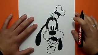 getlinkyoutube.com-Como dibujar a Goofy paso a paso 2 - Disney | How to draw Goofy 2 - Disney