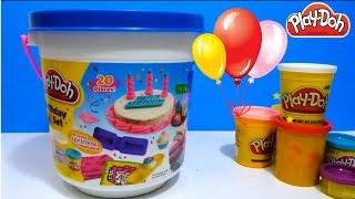 getlinkyoutube.com-ألعاب صلصال الأطفال - تورتة من المعجونة و عيد ميلاد تيليتابيز! PlayDoh Birthday
