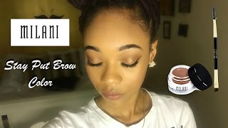 getlinkyoutube.com-Milani Stay Put Brow Color Review/Demo - Drew Babyy