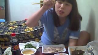 getlinkyoutube.com-왕쥬 보쌈 먹방(고양이크리) mukbang
