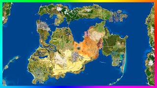 getlinkyoutube.com-UPDATED HUGE GTA 6/GTA 5 City Expansion Concept Map With Detailed Cities, Features & MORE! (GTA 5)