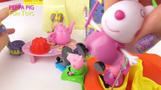 getlinkyoutube.com-Peppa Pig Tea Party with Fairy Friends in Castle   Peppa Pig Toys Video