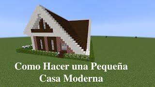 getlinkyoutube.com-Como Hacer una Pequeña Casa Moderna en Minecraft (PT1)