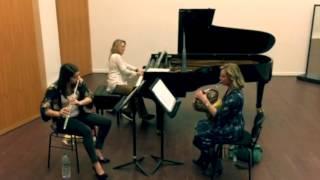 """getlinkyoutube.com-Ilcodema Trio - from """"Esquisse"""" pour cor, flûte, et piano - Georges Barboteu"""