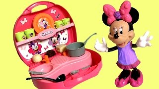 getlinkyoutube.com-Minnie's Mini Kitchen Play Doh Disney Minnie Mouse Bowtique Bow-Toons Cuisine Cucina Kuche