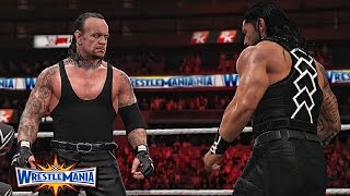 WWE 2K17 Wrestlemania 33 - The Undertaker vs Roman Reigns Match!