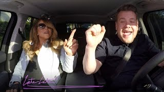 Mariah Carey And James Corden Singing Along Her Songs While In A Ride InLos Angeles