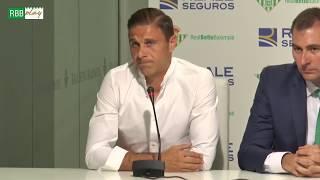Rueda de prensa de Joaquín tras el acuerdo de patrocinio entre el R...