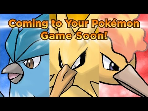 Get the Legendary Pokemon Trio Articuno, Zapdos, and Moltres for Your Pokemon Video Game!