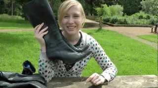getlinkyoutube.com-girl in leather boots, gloves, jacket, pants, ootd, trousers, gants en cuir, lederstiefel, pantalon