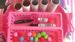 getlinkyoutube.com-Toddlers Crafts & Activities : Learning Colors & Counting Numbers : #1 Project