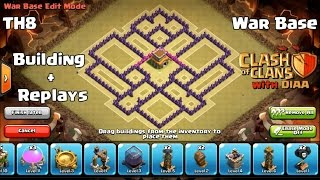 getlinkyoutube.com-COC l The Miracle Th8 Clan War Base l Anti (3 Stars - Dragons 3 - Hogs 5 - Gowipe) With Replays