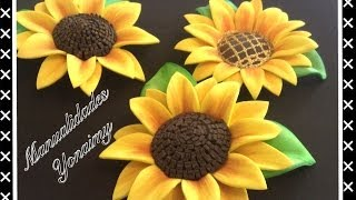 getlinkyoutube.com-GIRASOLES HECHOS CON FOAMY O GOMA EVA