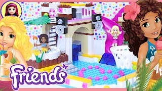 getlinkyoutube.com-Lego Friends Heartlake City Pool Build Review Silly Play - Kids Toys