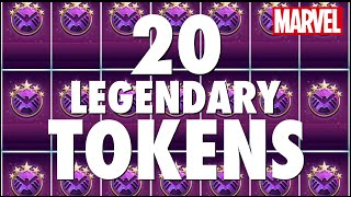 getlinkyoutube.com-20 LEGENDARY TOKENS Opening! Hunt for 5-Star Covers - Marvel Puzzle Quest with adampq