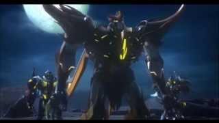 getlinkyoutube.com-Transformers Prime Beast Hunters- Predacons Rising: Predaking vs Darksteel & Skylynx