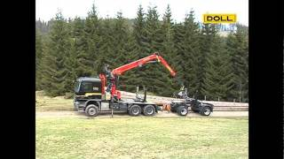 getlinkyoutube.com-DOLL Langholzzug; DOLL long timber trailer combination