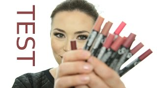 getlinkyoutube.com-TEST - Golden Rose MATTE LIPSTICK CRAYON Ladymakeup.pl