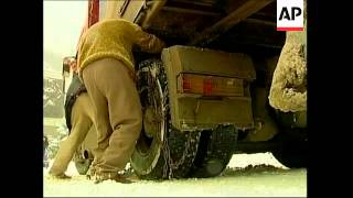 Winter weather chaos in Russia and Georgia