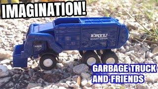"getlinkyoutube.com-GARBAGE TRUCK Video For Children l IMAGINATION l ""CONSTRUCTION SITE"""