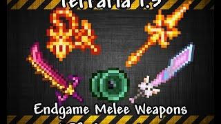 getlinkyoutube.com-Terraria 1.3 Best Endgame Melee Weapons + DPS Comparison