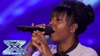 "getlinkyoutube.com-Ashly Williams' Emotional ""I Will Always Love You"" Prompts Tears - THE X FACTOR USA 2013"