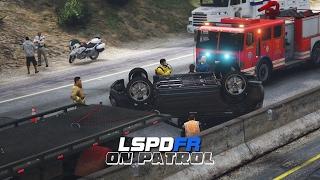 getlinkyoutube.com-LSPDFR - Day 445 - Rollover Accident