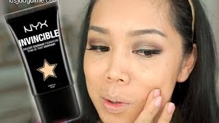 getlinkyoutube.com-NYX Invincible Fullest Coverage Foundation first impression review - itsjudytime