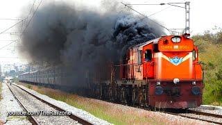 getlinkyoutube.com-HARDCORE Smoking  Diesel ALCo Twins   Vivek Express   Indian Railways