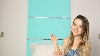getlinkyoutube.com-DIY: Cabeceira/Painel para cama box  | #VEDN