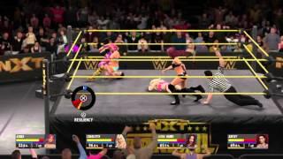 getlinkyoutube.com-WWE 2K16 NXT Divas CAW FATAL 4 WAY