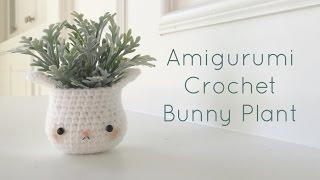 getlinkyoutube.com-Kawaii Amigurumi Bunny Plant Home Decor - Crochet DIY