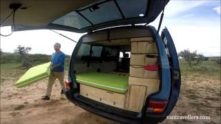 getlinkyoutube.com-Camper Van Bed  DIY / Self CAMPER CONVERTION en.vantravellers.com